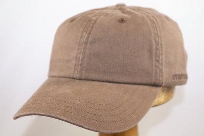 Stetson 'Rector' Cotton Baseballcap Bruin