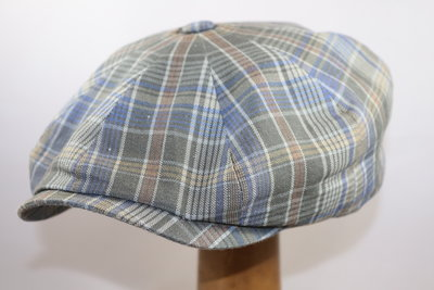 Stetson Hatteras Cotton Check Blue green