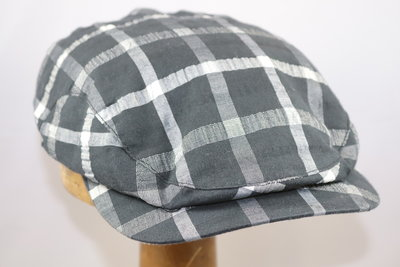 Wigéns Flat cap Cotton Checkered Black White