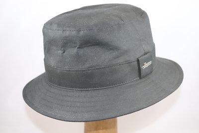 Wigéns Bucket Classic Waxed Cotton Regenhoed Zwart