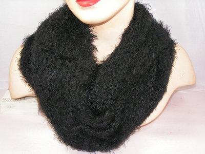Seeberger sjaal draadjes zwart
