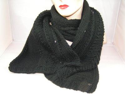 Seeberger sjaal zwart