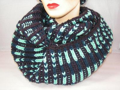 Seeberger 'loop'sjaal bruin mint