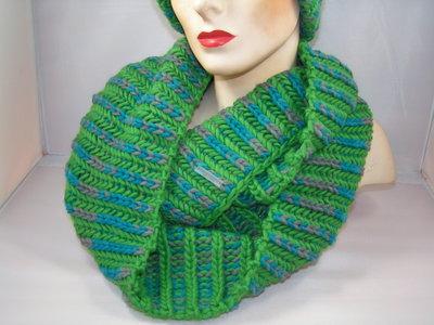 Seeberger 'loop'sjaal groen/blauw