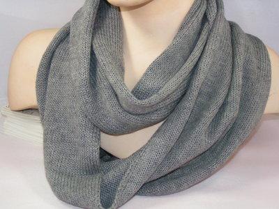 Seeberger 'loop'sjaal rolrand grijs