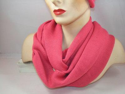Seeberger 'loop'sjaal rolrand rose