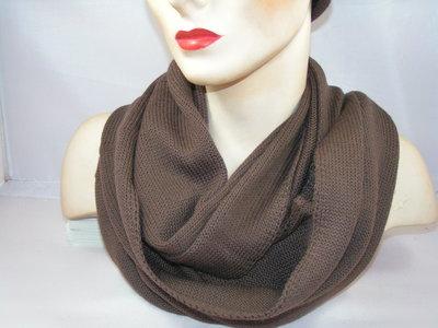 Seeberger 'loop'sjaal rolrand bruin