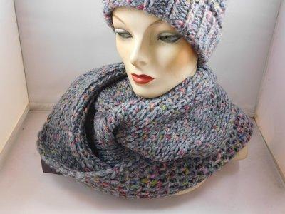 Seeberger 'loop'sjaal grijs multi color en lurex