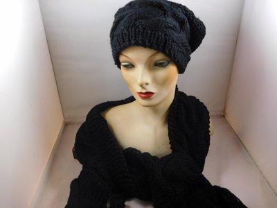 Seeberger sjaal kabel zwart