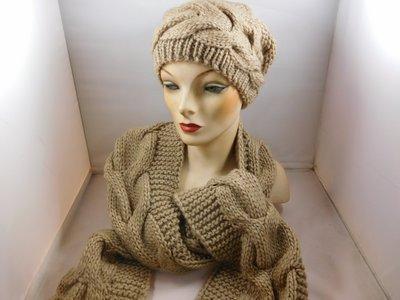 Seeberger sjaal kabel beige