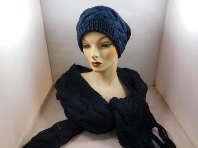 Seeberger sjaal kabel blauw
