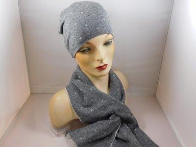 Bronte 'kinder'sjaal stipjes grijs