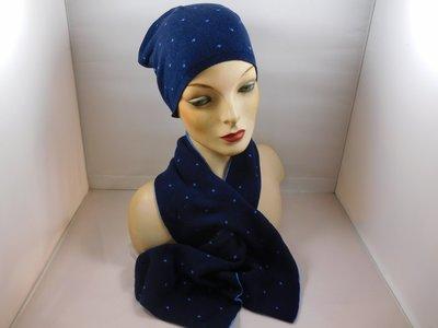 Bronte 'kinder'sjaal stipjes blauw