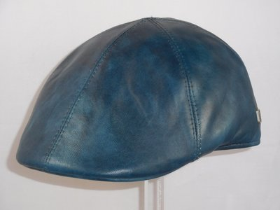 Alfonso D'este Ivy pet 'golf' leder blauw