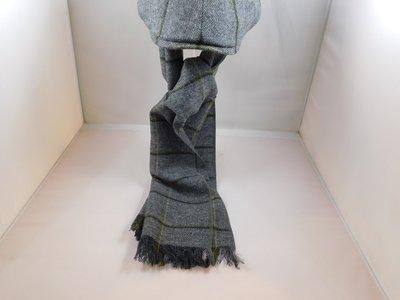 Derby Sport sjaal tweed grijs groene streep