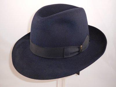 Borsalino bogarthoed Qualita Superiore rand 6,5 cm blauw