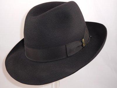 Borsalino bogarthoed Qualita Superiore rand 6,5 cm zwart