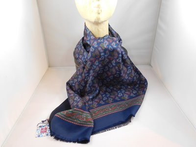 Fumagalli zijde sjaal paisley blauw