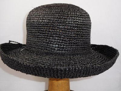 Seeberger crochet zomerhoed zwart