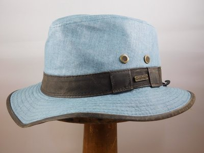 Hatland zomerhoed 'Richmond linen' blauw