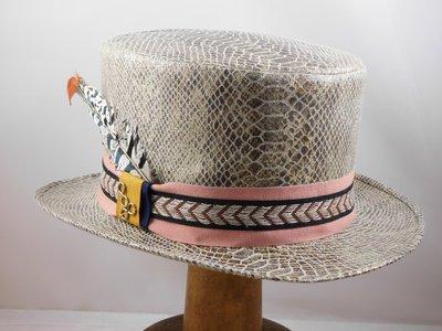 Hoge hoed Alfonso D'Este slangenprint