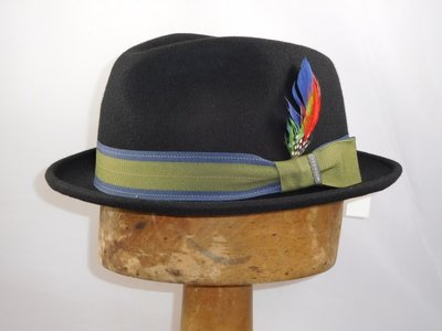 Stetson Trilby 'Player' zwart