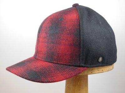 Stetson baseballcap Woolrich wol rood