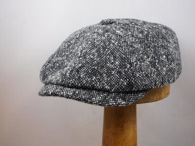 Stetson ballonpet 'Hatteras' Donegal tweed grijs