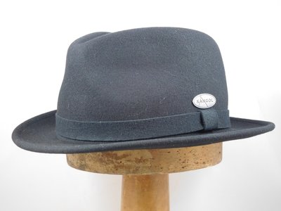 Kangol trilby hoed 'Hire' Litefelt zwart