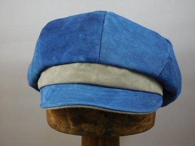 Bronte damespet suede jeans blauw grijs