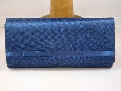 Handtas Seeberger satijn-sinamay blauw