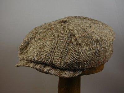 Ballonpet Stetson 'Hatteras' Silk/ Visgraat Naturel Gemeleerd
