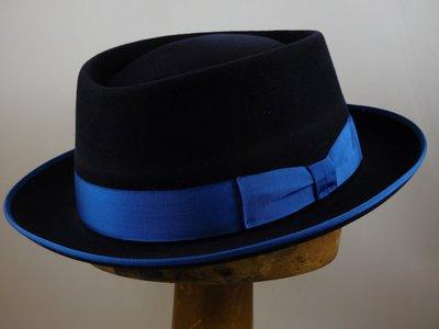 Baldini PorkPie Haarvilt Kobaltblauw