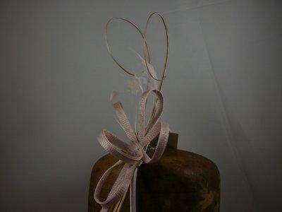 Fischer Haarversiering op diadeem - sinamay krullen pennen - Sorbet