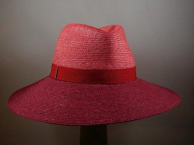 Marzi fedora bandstro 2tone roze rood