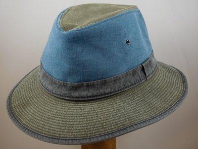 Crambes Katoen 'Safari' 3tone blauw