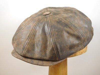 Ballonpet Stetson 'Hatteras' pigskin bruin