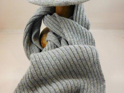 Frasconi sjaal spikkel licht grijs