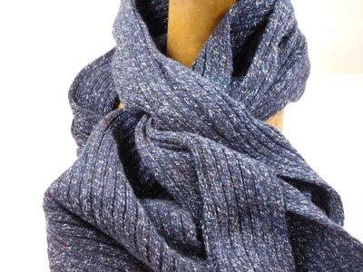 Frasconi sjaal spikkel blauw