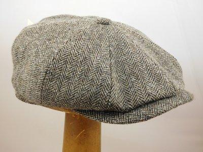 Stetson ballonpet 'Hatteras' visgraat bruin grijs