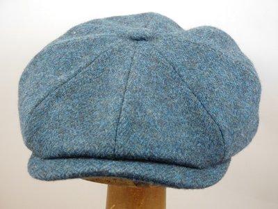 Stetson 'Hatteras' / Gemeleerd Jeansblauw Visgraat