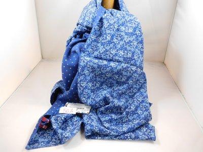 Fumagalli zijde sjaal 'flowers' blauw