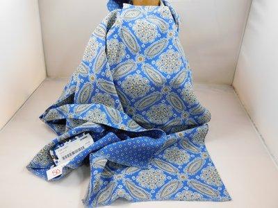 Fumagalli zijde sjaal 'snowflake' blauw