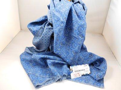 Fumagalli zijde sjaal 'rainforest' blauw