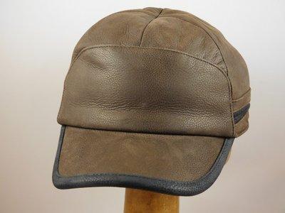 Stetson Cowhide baseballcap met oorkleppen / Donkerbruin