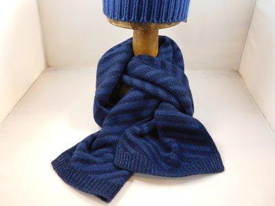 Bedacht Wollen Sjaal / Gestreept blauw