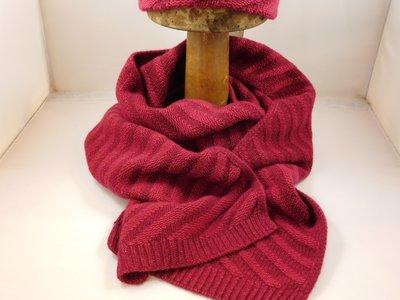 Bedacht Wollen sjaal / Gestreept rood