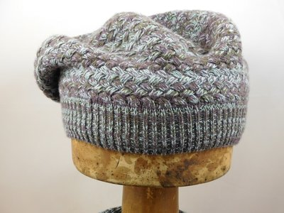 Bedacht Wollen Basketweave Muts / Taupe