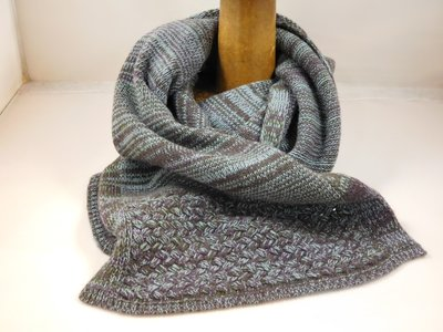 Bedacht Wollen Basketweave Sjaal / Taupe