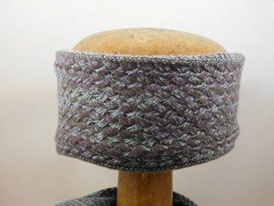 Bedacht Wollen Basketweave Haarband / Taupe
